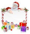 Santa Christmas Gifts Sign Royalty Free Stock Photo