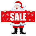 Santa and Christmas Sale Stock Photo