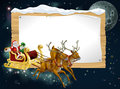 Santa Christmas Sleigh Background Stock Images