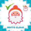 Santa claus accept icon glossy merry christmas new year button sign symbol logo Royalty Free Stock Images