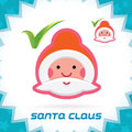 Santa claus accept icon glossy merry christmas new year button sign symbol logo Royalty Free Stock Photo