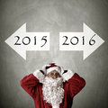 Santa claus with addresses turn of the year Royalty Free Stock Photography