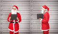 Santa claus arrested Royalty Free Stock Photo