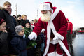 Santa Claus arrives in Aalborg Royalty Free Stock Photography