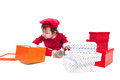 Santa Claus baby girl Royalty Free Stock Photo