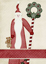 Santa Claus Background Card Royalty Free Stock Photos