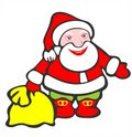Santa claus and bag Royalty Free Stock Photography