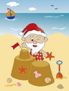 Santa claus on the beach Stock Photography