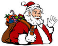 Santa Claus bearing gifts Royalty Free Stock Photo