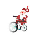 Santa Claus with a bicycle