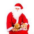 Santa Claus with a big bag Royalty Free Stock Photography