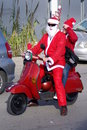 Santa claus bike parade 2011 Royalty Free Stock Photo