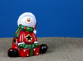 Santa Claus on a blue background Royalty Free Stock Photo
