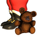 Santa Claus boots Royalty Free Stock Image