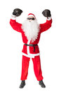 Santa Claus with boxing glove Royalty Free Stock Photo