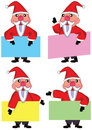 Santa Claus Card Set_eps Stock Photo