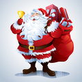 Santa claus carrying sack full of gifts comes with eps file cmyk jpg and rgb jpg separate grouped layers in the file only simple Stock Photos