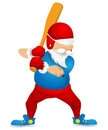 Santa claus cartoon character isolated on grey gradient background baseball vector eps Stock Photography