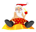 Santa claus cartoon character isolated on grey gradient background beach vector eps Royalty Free Stock Photos