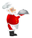 Santa claus cartoon character isolated on grey gradient background chef vector eps Stock Image