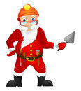 Santa claus cartoon character isolated on grey gradient background contractor vector eps Stock Photo