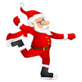 Santa claus cartoon character isolated on grey gradient background skater vector eps Stock Image