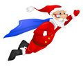 Santa claus cartoon character isolated on grey gradient background super hero vector eps Royalty Free Stock Photos