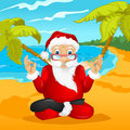 Santa claus cartoon character vector eps Stock Image