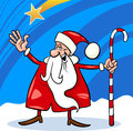 Santa claus cartoon christmas illustration Royalty Free Stock Images