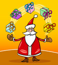 Santa claus cartoon christmas illustration Stock Photography