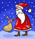 Santa claus cartoon christmas illustration Royalty Free Stock Photo