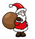 Santa claus cartoon illustration of Royalty Free Stock Images