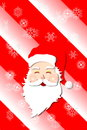 Santa claus cartoon in red smiling white background snow flakes Stock Images