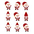 stock image of  Santa Claus, cartoon vector set collection, cute style, isolated on white background illustration