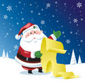 Santa Claus checking list Royalty Free Stock Photos