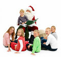 Santa Claus and children looking at you Stock Photography