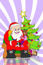 Santa claus and childrens Royalty Free Stock Images
