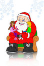 Santa claus and childrens- chating Royalty Free Stock Images
