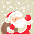 Santa claus christmas card greeting Royalty Free Stock Photography