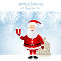 Santa claus christmas design with Royalty Free Stock Image