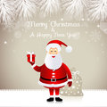 Santa claus christmas design with Royalty Free Stock Photos