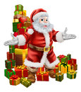 Santa Claus and Christmas Gifts Royalty Free Stock Image