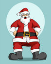 Santa Claus: Christmas greeting card Stock Images