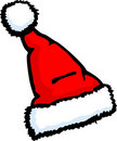 Santa claus christmas hat vector illustration Stock Photos