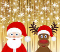 Santa Claus and Christmas reindeer Royalty Free Stock Photos