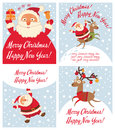 Santa Claus and Christmas reindeer. Funny cartoon character Royalty Free Stock Photo