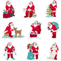 Santa claus christmas set for design and scrapbook in Royalty Free Stock Image