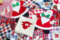 Santa Claus and Christmas Stockings -Christmas decoration Royalty Free Stock Photo