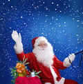 Santa claus christmas theme with Royalty Free Stock Photo