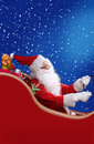 Santa claus christmas theme with Stock Image